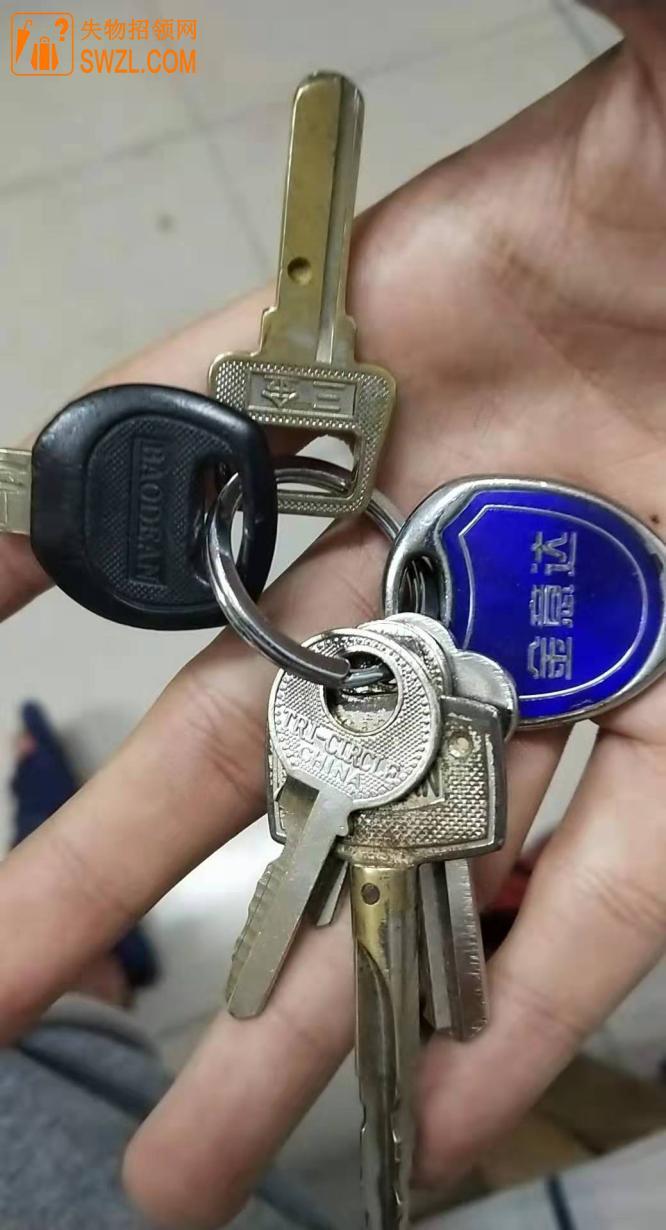 失物招领:在篮球场捡到钥匙一串